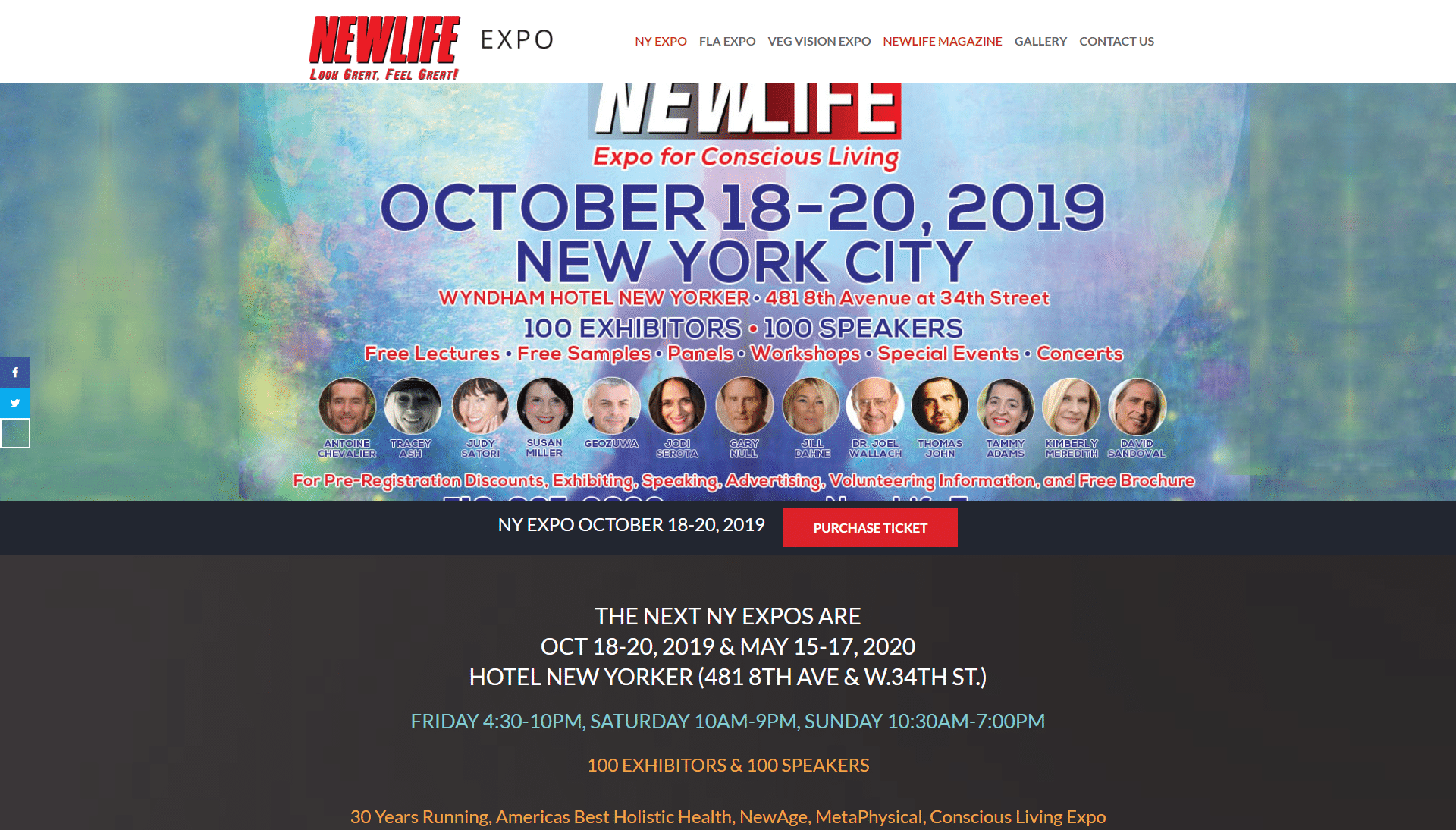 NEWLIFE Expo - website Optimization, SEO WRCKTNGL New York