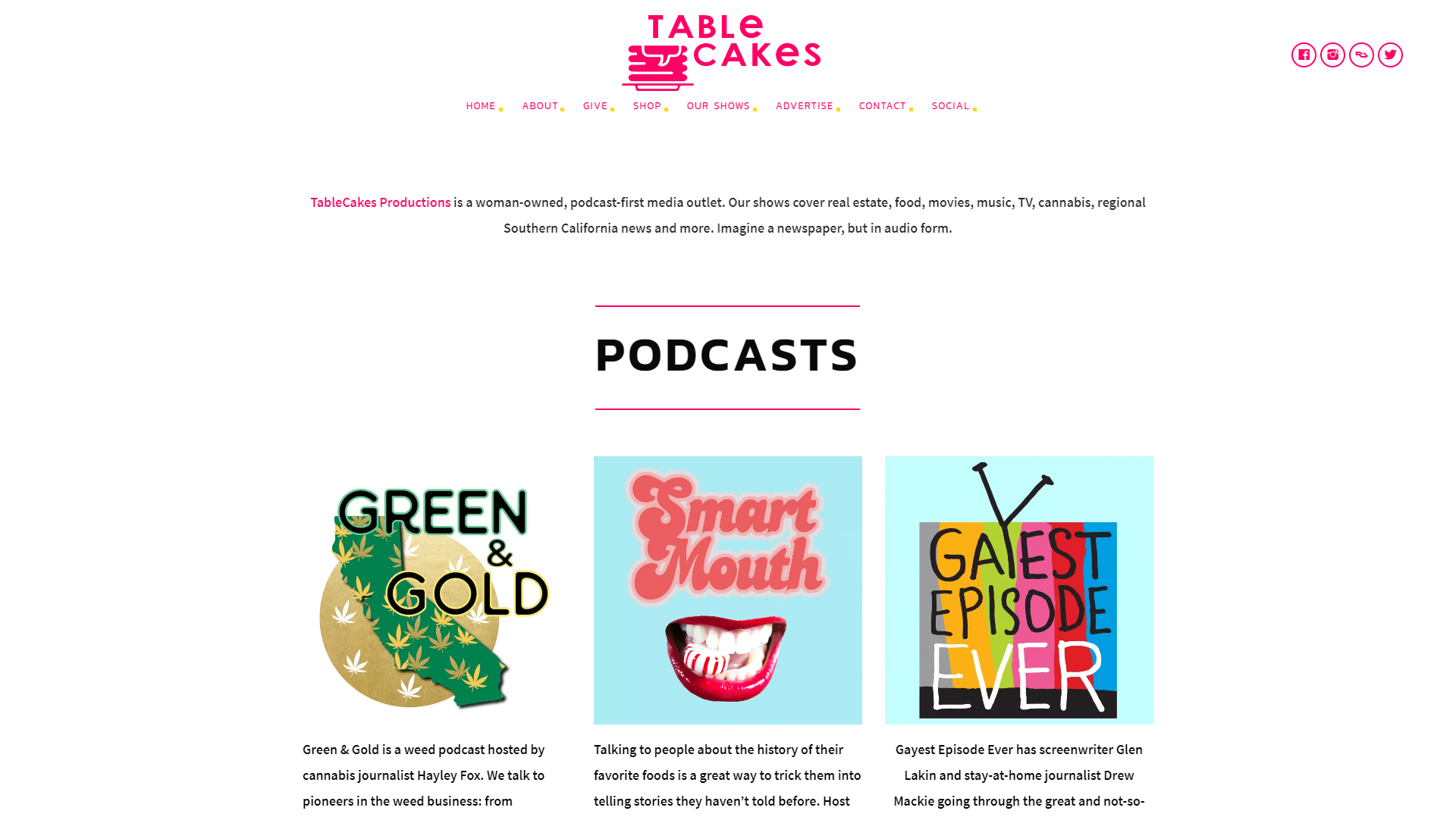 Los Angeles Podcast Website Developer WRCKTNGL