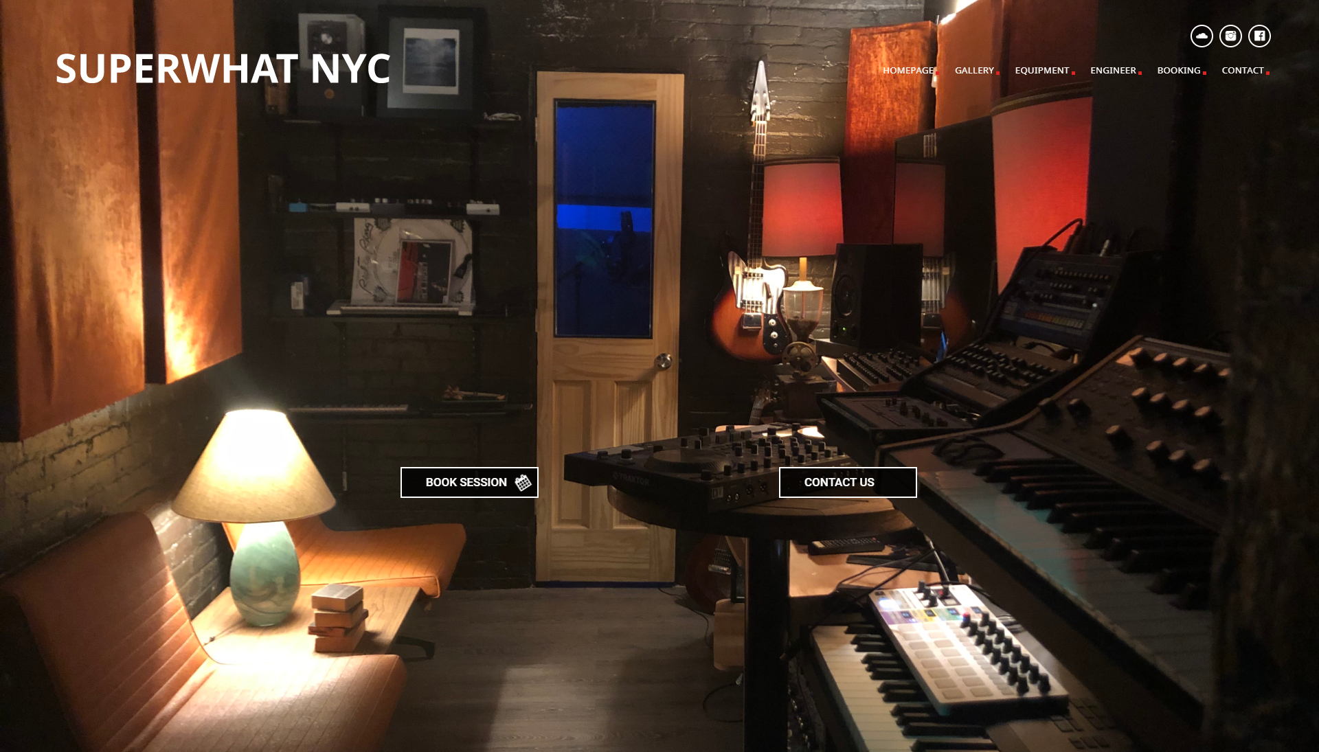 Music Studio Website Design / Website Developer | NEW YORK